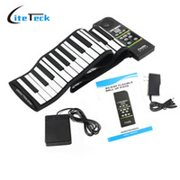 Wholesale Digital Keyboard Piano - Wholesale-88 Key Electronic Piano Keyboard Silicon Flexible Roll Up Piano with Loud Speaker Wish US Plug