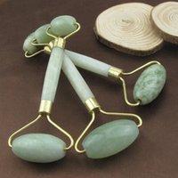 halslinie rolle großhandel-Heißer Verkauf 2in1 Tragbare Pratical Jade Gesicht Hals Kinn Roller Massage Abnehmen Linie Schönheit Werkzeug