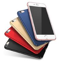 Wholesale Pc Fingerprint - NEW matte Anti-fingerprint case phone all inclusive slim pc back shell Cover for iphone 5 5S SE 6 6S 6Plus 6splus 7 7plus