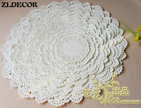 Wholesale White Paper Doilies - Wholesale- ZLDECOR SS016060 8 Mixed Sizes Romantic Embossed Round White Paper doily Cake Doilies Free shipping 160pcs lot
