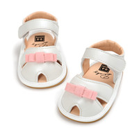 Wholesale Princess Protection - 2017 summer new arrival baby girls bowknot peep-toe sandals sweety cute princess first walkers toe-protection soft sole shoes for 0-2T