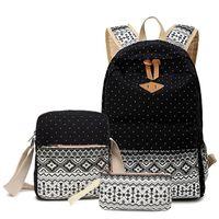 Wholesale Print Bags For Girls - Stylish Canvas Laptop Backpacks Female Bagpack Printing Backpack Women School Bags for Girls Cute Bookbags ZDD8263