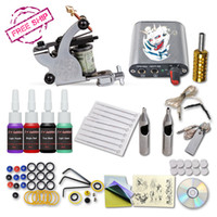 Wholesale Complete Tattoo Machine Gun Color Inks Power Supply Set Beginner Tattoo Kits