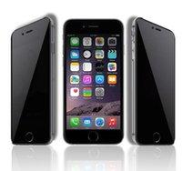 iphone 5.5 ekran koruyucusu parlama önleme toptan satış-Temperli Cam Filmi Ekran Koruyucu Anti-Glare Kağıt Paketi ile iPhone 6 4.7 5.5 4 4 s 5 5 s 5c