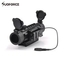 Wholesale Tactical Shotgun Red Dot Sights - Tactical Riflescope 1X30 Optical Sight Green Red Reticle with Red Dot Laser Sight of 20mm Mount for Airsoft Rifle Shotguns