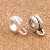 Wholesale Twisted Wire Silver Bracelet - Spacers Connector Twist Wire Bail Beads 2Colors 120pcs lot 12X22mm Antique Silver Fit European Charm Bracelet Jewelry DIY L693