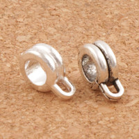 Barato Pulseira Charme Conector Contas-Spacers Connector Twist Wire Bail Beads 2Colors 120pcs / lot 12X22mm Antique Silver Fit European Charm Bracelet Jóias DIY L693