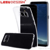 Wholesale Mm Soft Case Iphone - Premium transparent TPU for s8 s8 plus Clear soft mobile phone case cover for iphone 6 7 7 plus s7 s6 edge 1.2 mm cellphone silicon case