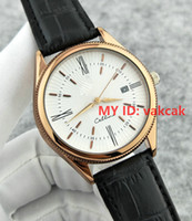 Wholesale Mens Sport Clock - Top Luxury Brand Gold White Leather Sports Men Watches Watch Quartz Hour Clock Sport Mens WristWatch Relogio automatic