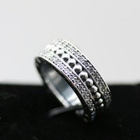Wholesale European Fashion Style Ring - Women Fashion Ring 100% S925 Sterling Silver European Pandora Style Charm Jewelry Ring Forever P-Ring with Clear Cz