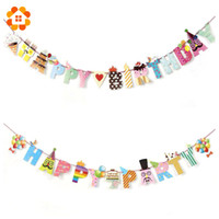 1 Set Happy Party / Anniversaire Paper Flag Party Bell Garland Décoration Banner Bunting For Kids Anniversaires Party Supplies Décorations