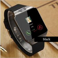 iphone android mobile al por mayor-Reloj elegante DZ09 Dz09 Relojes Wrisbrand Android iPhone reloj inteligente SIM de teléfono móvil inteligente del sueño Estado SmartWatch paquete al por menor