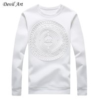 Wholesale purple abstract - Wholesale-Men's Capless Hoodies Abstract Circular Patterns Pure Color Casual Sweatshirt Fashion Jacket Plus Size:M-5XL 968