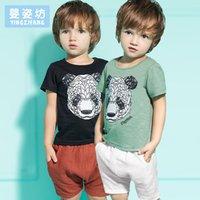 Wholesale Toddler Boys Shorts Pattern - Yingzifang Summer 2017 New Boys Baby Clothing Set Casual Cute Pattern Panda Toddler Boys Clothing Sets 2 Pieces