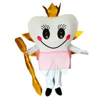 Wholesale Tooth Toothbrush Mascot - Teeth and Toothbrushes queen Mascot Costumes Cartoon Character Adult Sz 100% Real Picture