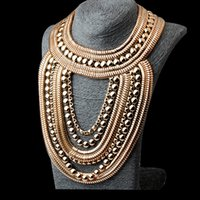 Wholesale high end cocktail dresses - Fashion High-end Evening Dress Match Gorgeous Necklace For Cocktail Party Crystal Cluster Statement Bib Necklace Jewelry