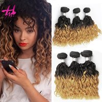 Ombre brasilianischen Kinky Curly Virgin Hair 3 Bundles Ombre Curly Hair Weave Zwei Tone Ombre Human Hair Extensions