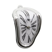 Wholesale Novelty Desk Table Melting Clocks Right Angle Wall Bedside Alarm Modern Distorted Clock