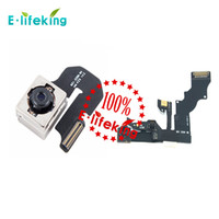 Wholesale lcd camera flex cable - Front Camera with flex cable & Back Camera Lens Cam Replacement for iphone 6 & 6 plus Hot Selling