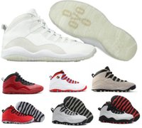 Retro 10 Basketball Shoes Homens Mulheres Grey Air Retros 10s X Masculino Feminino Sport Femme Homme China Marca Replica Training Sneakers Sapatos Venda