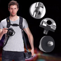 """Wholesale Screw Strap - Wholesale- In stock! New 1 4"""" Screw For DSLR SLR Camera Strap Tripod Quick Release Plate Mount Newest Wholesale"""