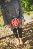 frauen ballons großhandel-2017 neue Designer Heißluft ballon Geformt Umhängetasche Frauen Mode Bunte Klappen Casual Mini Cross Body Schultertasche Brieftasche