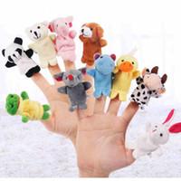 Wholesale Cartoon Deck - Plush toys for children finger Puppets Finger animal Double-deck little figurine Cartoon Free Delivery