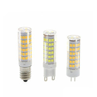 Wholesale 10pcs G4 G9 E14 LED Lamp V W W W Mini Lampada LED Bulb Corn Light SMD2835 Ceramic Chandelier Lights Replace Halogen