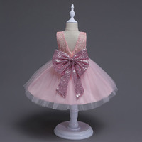 Wholesale 2017 Girl lace paillette camisole dress kids baby princess party bowknot Rainbow colors sleeveless tutu Dress skirt MSG054