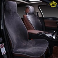 Wholesale Seat Cars For Sale - 2pc front cape universal size for all types of seats faux fur car seat covers color gray Renault Logan auto sales in