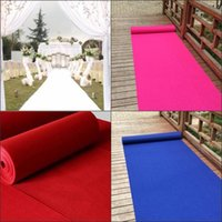 Wholesale Table Runner Material - 1m 1.2m 1.5m Wide Available Fashion Non-woven Material Wedding Aisle Runner Festival T Station Carpet Supplies free shipping
