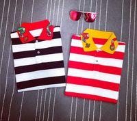 Wholesale Ralph Polo Women - 2 Colors men's brand polo t-shirt Snake embroidery collar fashion t shirt short-sleeved t shirt men Striped lovers polo girls women men