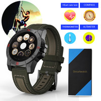 Wholesale Heart Thermometer - Wholesale- N10B Smart Watch Outdoor Sport Smartwatch With Heart Rate Monitor Compass Thermometer Waterproof SmartWatch For IOS & Android