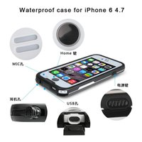 Wholesale Box For Iphone 4s - sell 1 pc shockproof Dustproof Waterproof case swimming surfing case cover for iphone 6 6 plus 5 5s 4 4s with retailout box with opp bag