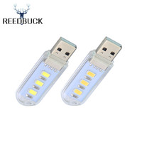 led usb lamp mobile charger prices - Wholesale- LED Night Light Mini USB Lamp 3Leds White Warm Lamps Portable Nightlight for Notebook Mobile Power Charger Reading Table Bulb