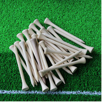Wholesale Wooden Golf Tees Wholesale - Wholesale- Free Shipping 100pcs lot 70mm Golf Ball Wood Tees Wooden Brand New Golf Accessories Hot
