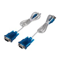 Novo 2PCS HL-340 USB para RS232 Serial Port 9 Pin Cable Serial COM Port Adapter Converter