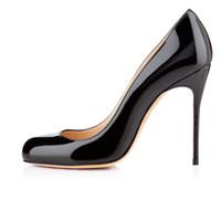 Wholesale Cute Stiletto Shoes - Zandina Ladies Womens Handmade Fashion FeiFei 100mm Cute Basic High Heels Party Office Pumps Shoes Black