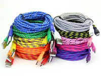 Wholesale 1m m m ft Fabric Cords Nylon Braided Micro USB Cable Unbroken Metal Connector Lead charger A Cord For Android DHL Free