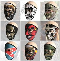 Wholesale Tactical hood Hunting Breathing Dustproof Face masks ghost Skull Mask Motorcycle Skiing Cycling Full Hood party scary cosplay costumes mask