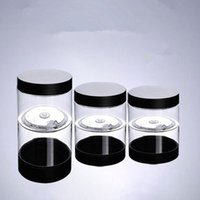 Wholesale Pet Food Containers - 50g 100g 150g cream Container Plastic mask Box with Black Cover 200g Clear Jar Food Grade Material PET Jar F20171106