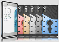 Wholesale Xperia Cell Phone Cases - Shockproof 360 Degree Rotary TPU PC Hard Case For Sony Xperia XZ X Compact LG K10 2017 Stylo Stylus 3 Sniper Stand Armor Cell Phone Cover