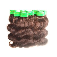 Wholesale Cheap Real Hair Extensions - wholesale cheap 6a indian human hair body wave 1kg 20bundles lot coffee brown color real unprocessed indian virgin hair extensions weaves