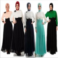 Wholesale Maxi Cotton Long - 100% Cotton fashion hot selling turkish Muslim women Long sleeve Dubai Dress maxi abaya islamic women dress clothing robe kaftan