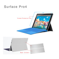 Wholesale Tablet Sticker Skins - Screen Protector Film Tablet Decal Back Cover Film For Surface Pro 4 Wrap Protect Skin Sticker For Surface Pro 4 Carbon Fiber Silver
