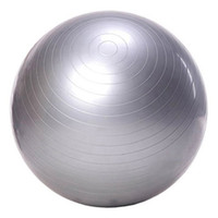 Wholesale 65cm yoga ball - Wholesale- Exercise Ball Yoga Ball Free Pump- Burst Resistant Fitness Balls for Yoga Pilaties Abs and Core Workouts (gray 65 Diameter)