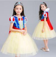 Wholesale Childrens Turtlenecks - Summer Big Girls Childrens Dresses Halloween Christmas Cosplay Princess Dress Clothing Girl Dresses for Girls Kids Dancewear Clothes