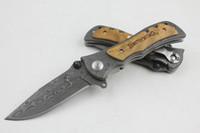 kahverengileştirme 339 cep bıçağı avı toptan satış-Browning 339 Bıçak toplam uzunluğu 20.2 cm Leopar tahıl Katlanır Cep Avcılık Bıçak Survival Aracı Katlanır Bıçak Bıçak, El aracı, ÜCRETSIZ KARGO