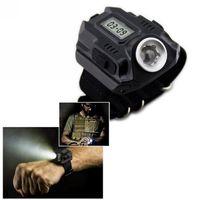 Wholesale Wrist Watch Led Flashlight - New Portable CREE XPE Q5 R2 LED Wrist Watch Flashlight Torch Light USB Charging Wrist Model Tactical Rechargeable Flashlight