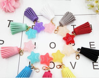 Wholesale fashion star DIY candy color tassel pendant jewelry accessories pendant pendant mobile phone shell material